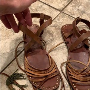 Free people women's gladiator sandals. 8